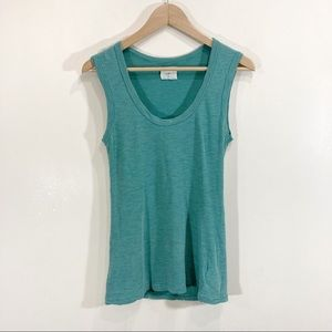 Anthropologie Teal Striped Sleeveless Tank Top Small t.La